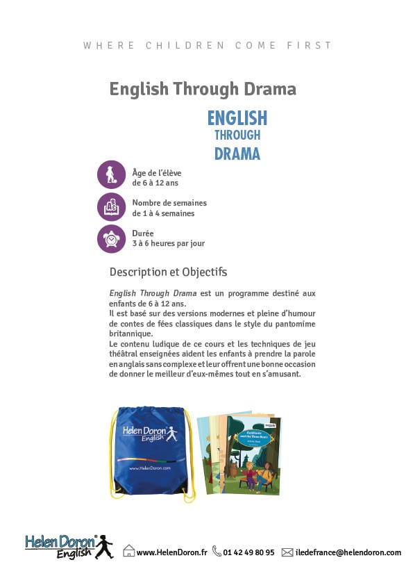 Télécharger - English through Drama Holiday Course