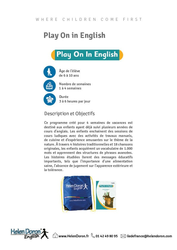 Télécharger - Play On in English Holiday Course