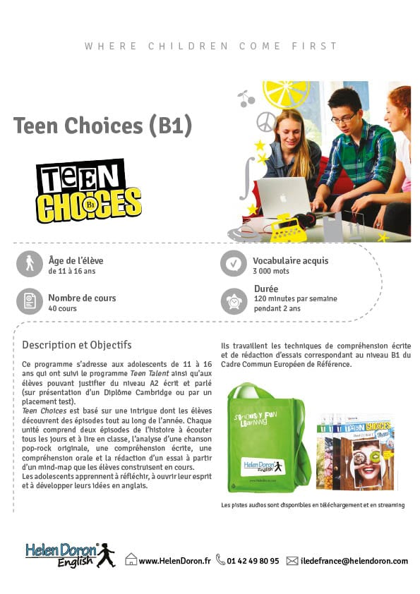 Télécharger - Teen Choices (B1)‎