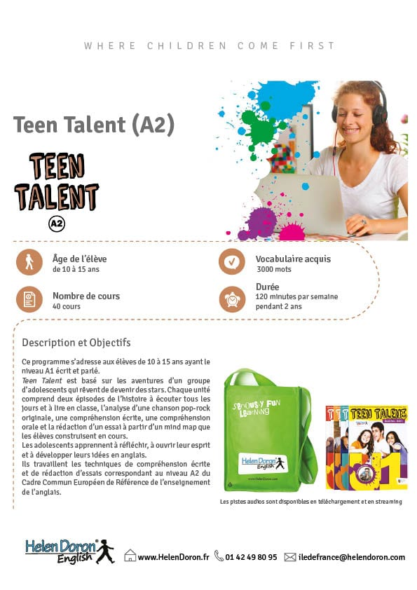 Télécharger - Teen Talent (A2)‎
